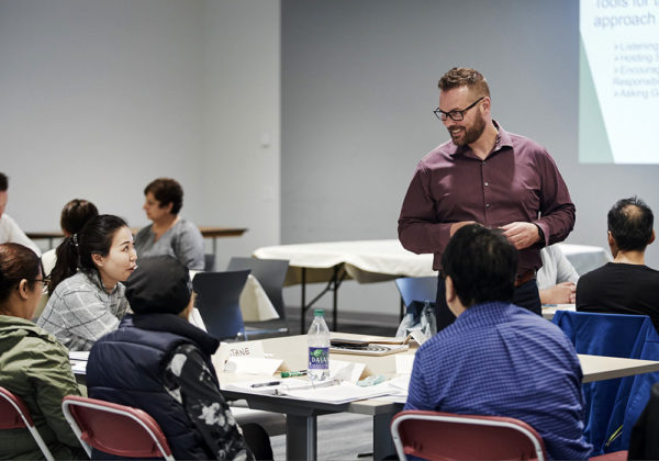 Dave teaching leadership training class