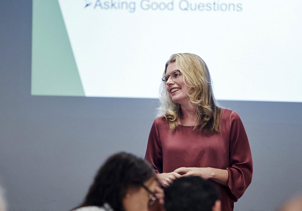 Stephanie Berryman teaching