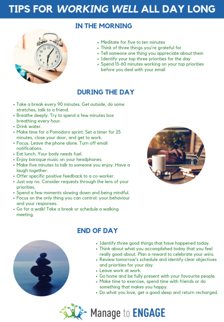Tips for Working Well All Day Long
